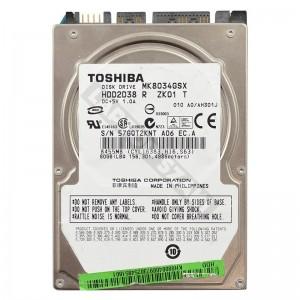 """Toshiba MK8037GSX 80GB SATA 2,5"""" használt laptop winchester"""