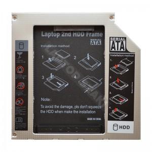SATA 2nd HDD/SSD caddy, második winchester beépítő keret