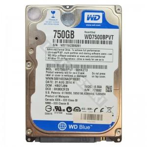 """WD WD7500BPVT 750GB SATA 2,5"""" gyári új laptop winchester"""