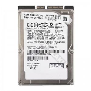 """Hitachi HTS541080G9SA00 80GB SATA 2,5"""" használt laptop winchester"""