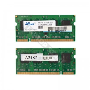 Asint 512MB DDR2 667Mhz laptop memória (SSX264M8-J6EE)