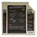 Slim IDE 2nd HDD/SSD caddy, második winchester beépítő keret