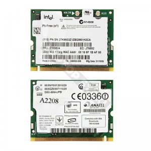 Intel 27K9934 802.11b/g mini PCI wifi kártya
