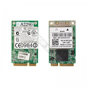 Broadcom BCM94311MCG 802.11a/b/g mini PCI-E wifi kártya