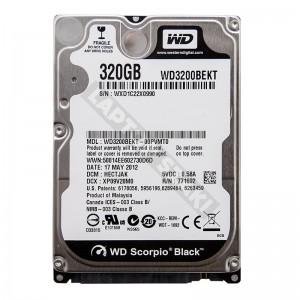 """WD WD3200BEKT 320GB SATA 2,5"""" gyári új laptop winchester"""