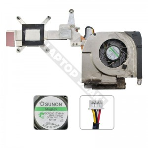 431448-001, GC055515VH-A használt komplett hűtés