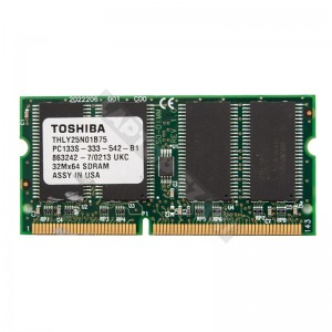 Toshiba 256 MB SD RAM 133 MHz notebook memória