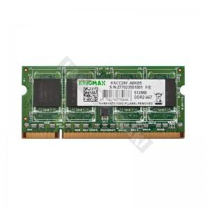 Kingmax 512MB DDR2 667MHz notebook memória (MSXC22F-D8KT4)
