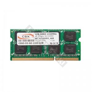 CSX 4GB DDR3 1333MHz notebook memória (CSXO-D3-SO-1333-4GB)