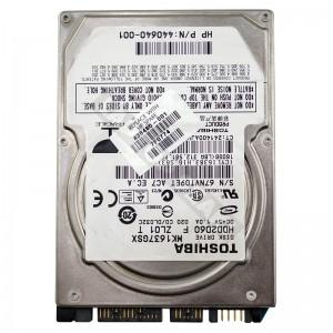 """Toshiba MK1637GSX 160GB SATA 2,5"""" használt laptop winchester"""