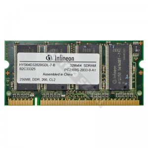 Infineon 256MB DDR 266Mhz notebook memória