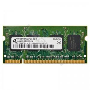 Qimonda 512MB DDR2 667MHz notebook memória (HYS64T64020HDL)