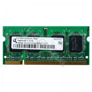 Qimonda 256MB DDR2 667Mhz laptop memória (HYS64T32000HDL-3S-B)
