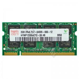 Hynix 2GB DDR2 800MHz használt notebook memória (HYMP125S64CP8)