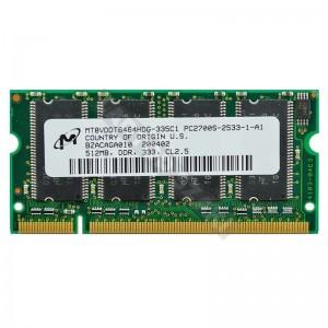 Micron 512MB DDR 333MHz notebook memória (MT8VDDT6464HDG-335C1)