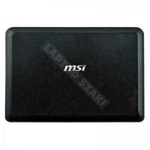 MSI Wind U100, U100X használt LCD hátlap (fekete)