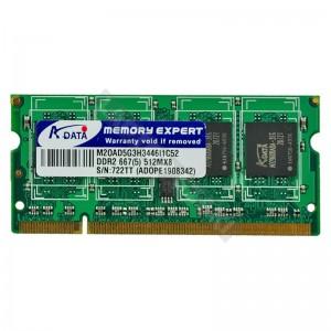 ADATA 512MB DDR2 667Mhz használt notebook memória (M20AD5G3H3446I1C52)