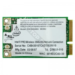 Intel 3945ABG mini PCI-E wifi kártya