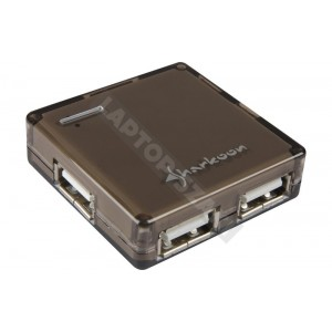 Sharkoon 4 portos fekete Square USB Hub