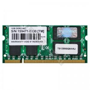 Transcend 1GB DDR2 667MHz notebook memória (TS128MSQ64V6J)
