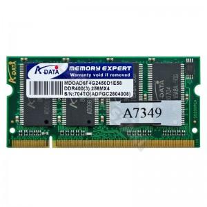 Adata 256MB DDR400MHz notebook memória (NT256D64SH8C0GM-6K)