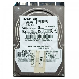 """Toshiba MK1234GSX 120GB SATA 2,5"""" használt laptop winchester"""