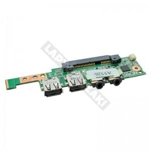 60-0A1BDT1000-B01 audió és usb panel, HDD csatlakozó