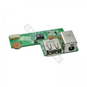 446524-001  használt DC tápcsatlakozó + USB panel + kábel