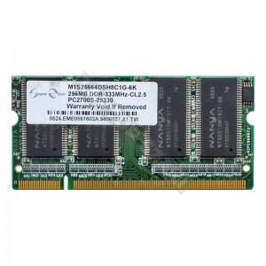 Super Elixir 256MB DDR 333MHz notebook memória (M1S25664DSH8C1G-6K)