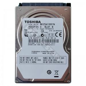 "Toshiba MK2561GSYN 250GB SATA 2,5"" gyári új laptop winchester"