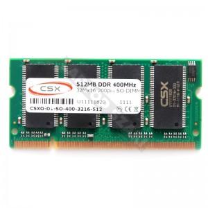 CSX 512MB DDR 400MHz notebook memória (CSXO-D1-SO-400-648-512)