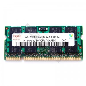 Hynix 1GB DDR2 667MHz notebook memória (HYMP512S64CP8-Y5)