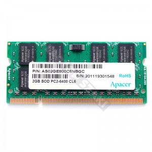 Apacer 2GB DDR2 800MHz laptop memória (AS02GE800C6NBGC)