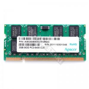 Apacer 2GB DDR2 800MHz laptop memória (AS02GE800C6NBGC)