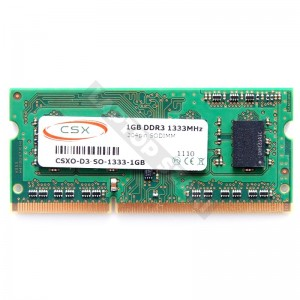 CSX 1GB DDR3 1333MHz notebook memória (HMT112S6BFR6C)