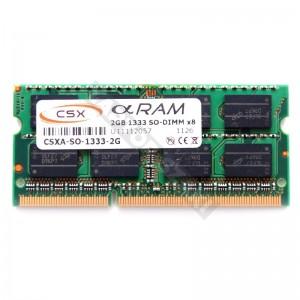 CSX 2GB DDR3 1333MHz notebook memória (CSXO-D3-SO-1333-2GB)