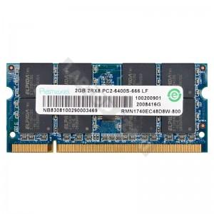 Ramaxel 2GB DDR2 800MHz notebook memória (RMN1740EC48D8W-800)