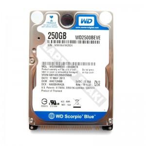 "WD WD2500BEVE 250GB IDE 2,5"" gyári új laptop winchester"