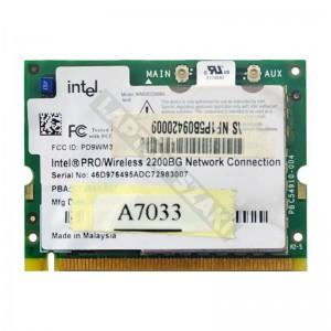 Intel 2200BG 802.11b/g mini PCI wifi kártya