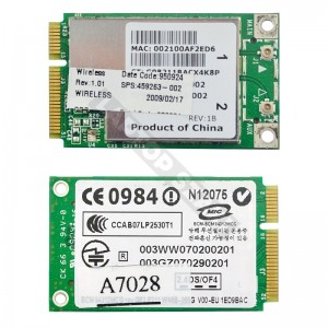 Broadcom 4312MCG 802.11b/g mini PCI-E wifi kártya