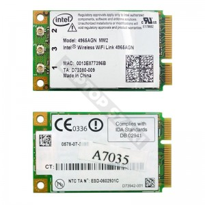 Intel 4965AGN 802.11a/b/g/n mini PCI wifi kártya
