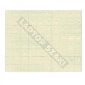 Átlátszó alapon fehér betűk - Cirill billentyű matrica