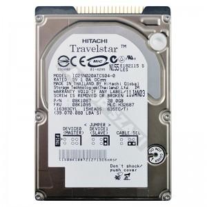 """Hitachi IC25N020ATCS04-0 20GB IDE 2,5"""" használt laptop winchester"""