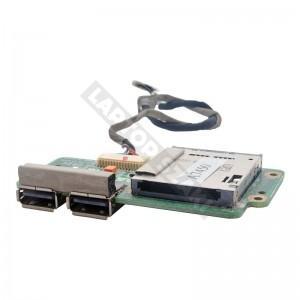 ASUS K51AC SD kártyaolvasó és USB panel + kábel