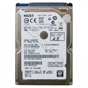 "HGST HTS547550A9E384 500GB SATA 2,5"" gyári új laptop winchester"