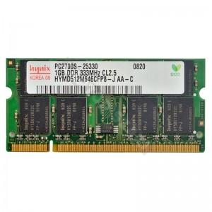 Hynix 1GB DDR 333MHz használt laptop memória (HYMD512M646CFP8-J)