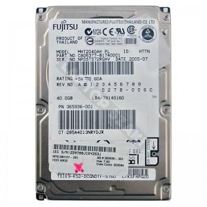 "Fujitsu MHS2040AT 40GB 2,5"" IDE használt laptop winchester"