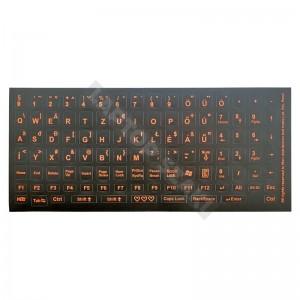 Billentyűzet matrica - fekete alapon narancs