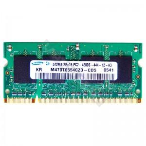 Samsung 512MB DDR2 533MHz notebook memória (P/N: M470T6554CZ3-CD5)