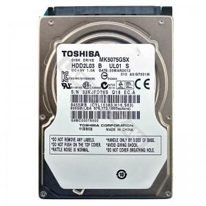 """Toshiba MK5075GSX 500GB SATA 2,5"""" használt laptop winchester"""